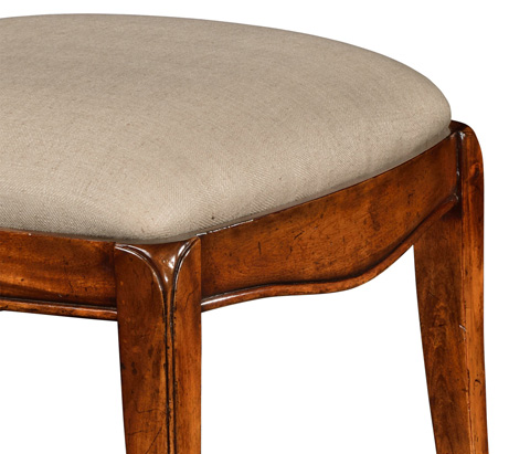 Jonathan Charles - Spoon Back Upholstered Dining Side Chair - 492789