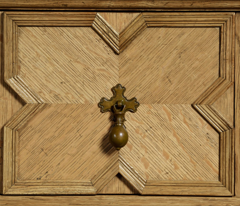 Jonathan Charles - Natural Oak Tudor Style Buffet - 492988-L