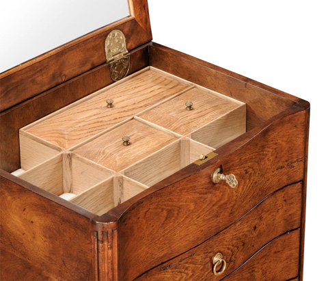 Jonathan Charles - Walnut Chest Or Collectors Cabinet on Stand - 492994