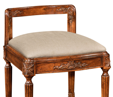 Jonathan Charles - French Empire Style Dressing Stool - 493029
