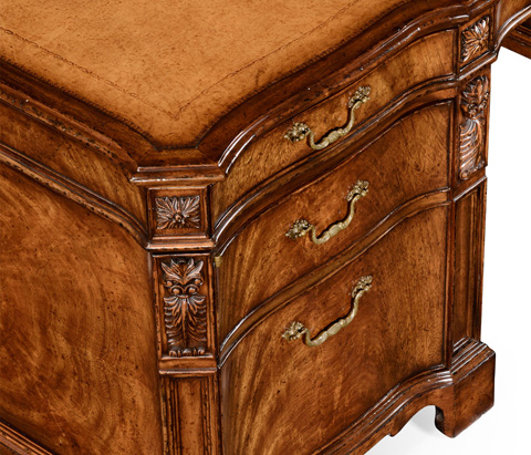 Jonathan Charles - Walnut Faux Partners Desk - 493071