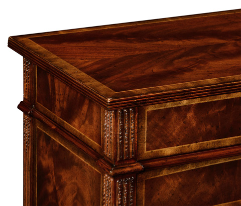 Jonathan Charles - Mahogany Chest of Drawers with Concave Profile - 493089