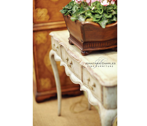 Jonathan Charles - French Provincial Grey Painted Console - 493222