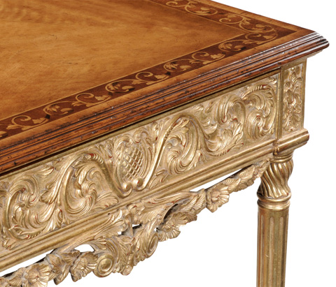 Jonathan Charles - Louis XIV Style Square Side Table - 493286