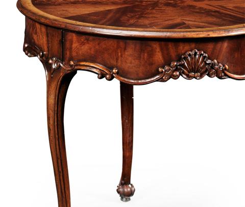 Jonathan Charles - Mahogany Three Legged Round Side Table - 493598