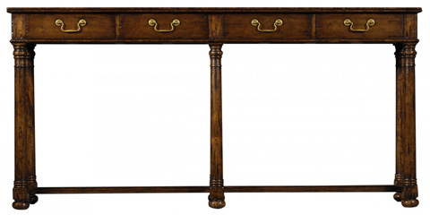 Jonathan Charles - Oyster Parquet Console - 493605