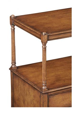 Jonathan Charles - Walnut Two Drawer Side Table - 493934