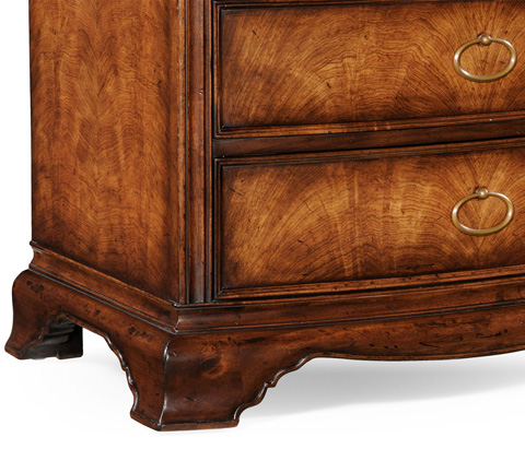 Jonathan Charles - Crotch Walnut Bedside Chest - 493971