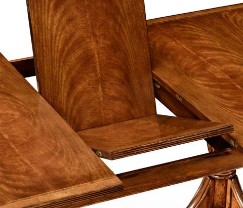 Jonathan Charles - Regency Crotch Walnut Extending Dining Table - 494132
