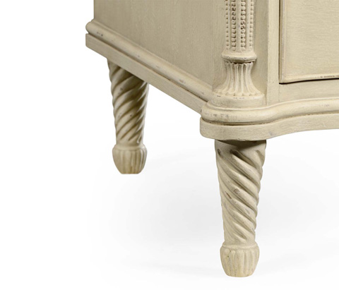 Jonathan Charles - Neo-Classical White Painted Chest of Drawers - 494330-LIN