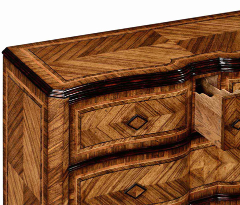 Jonathan Charles - Large Argentinian Walnut Chest of Drawers - 494343