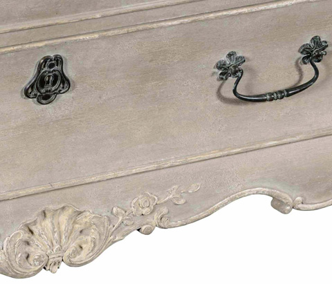 Jonathan Charles - French Provincial Grey Painted Chest of Drawers - 494387