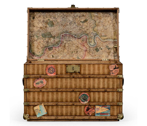 Jonathan Charles - Travel Trunk Style Storage Chest - 494481
