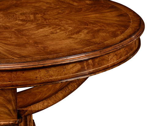 Jonathan Charles - Biedermeier Style Crotch Walnut Centre Table - 494635