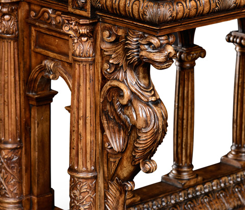 Jonathan Charles - French Renaissance Style Library Table - 494780