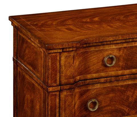 Jonathan Charles - Walnut Reverse Breakfront Chest of Drawers - 494845