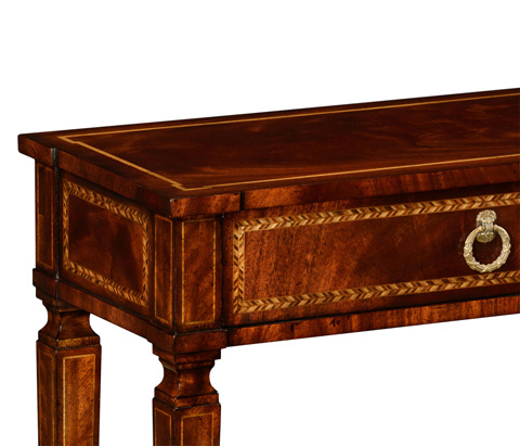 Jonathan Charles - Empire Style Mahogany Two Drawers Console - 494847