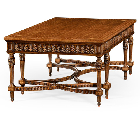 Jonathan Charles - Napoleon III Style Coffee Table with Fine Inlay - 494891