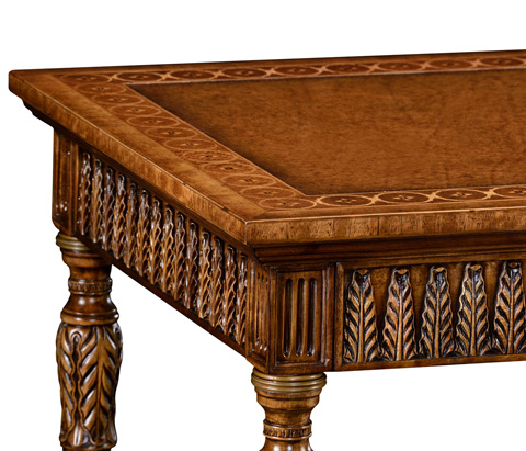 Jonathan Charles - Napoleon III Style Bureau Plat with Fine Inlay - 495008