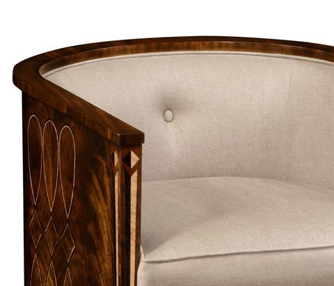 Jonathan Charles - Mahogany Brown Club Chair - 495196