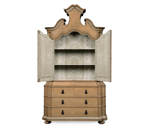 Jonathan Charles - Oulton Cabinet with Wooden Doors - 530088