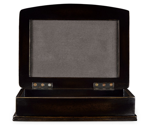 Jonathan Charles - Anthracite Faux Shagreen Bronze Box - 494115-B