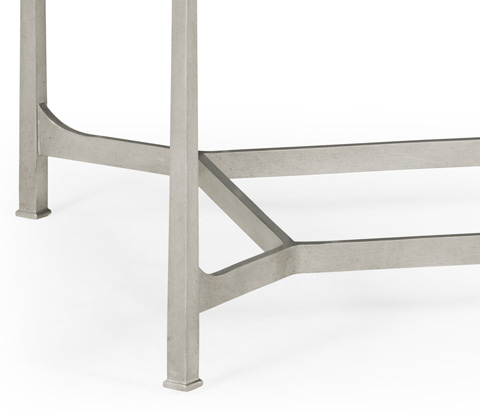 Jonathan Charles - Silver Iron Rectangular Coffee Table - 494144-S
