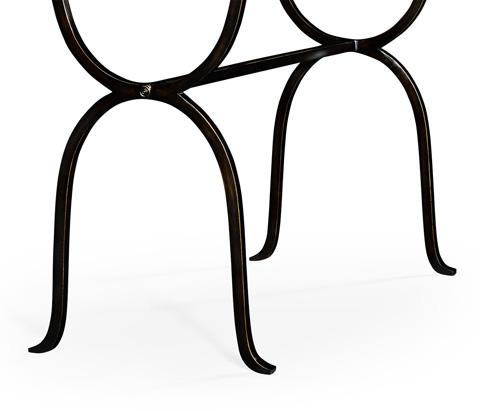 Jonathan Charles - Bronze Iron Horseshoe Console Table - 494155-B