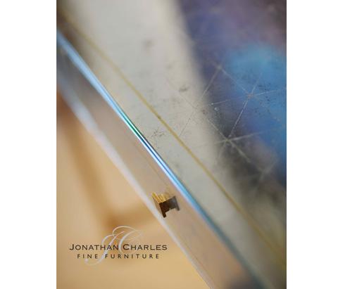 Jonathan Charles - Gilded Iron Box Console - 494193-G