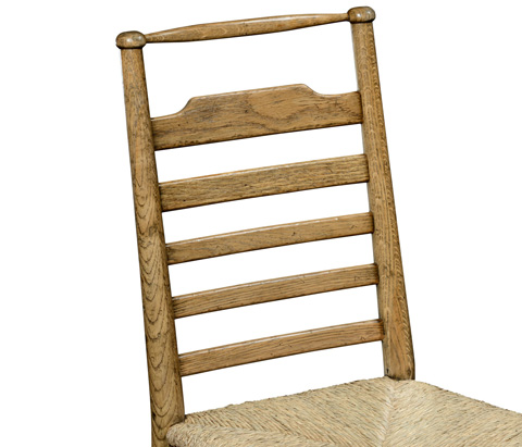 Jonathan Charles - Natural Oak Ladder Back Country Side Chair - 494218-L