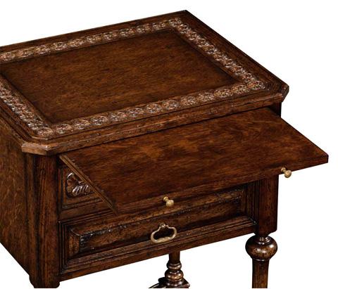 Jonathan Charles - Tudorbethan Side Table With Slide - 494470