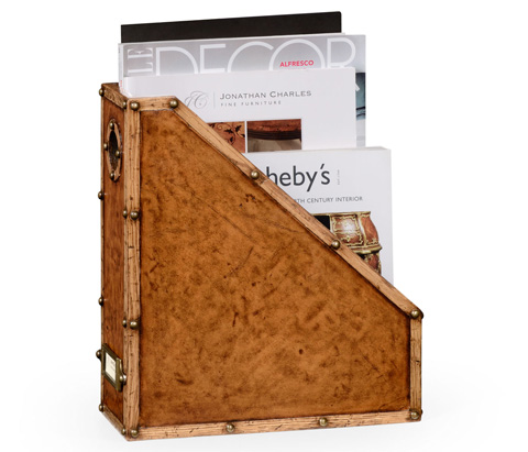 Jonathan Charles - Travel Trunk Style Box File - 494797
