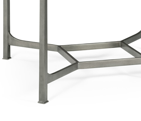 Jonathan Charles - Patinated Silver Finish Square Side Table - 494921-S