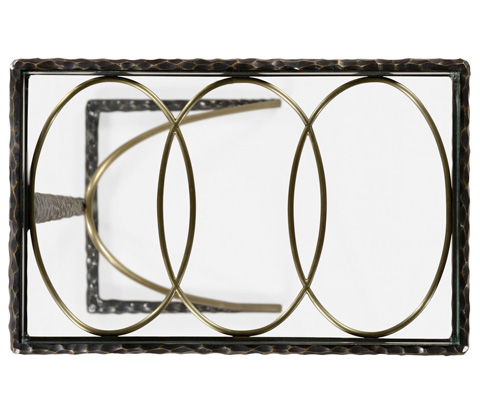 Jonathan Charles - Hammered Iron Sofa Table - 495031-BRO