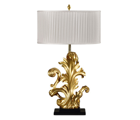 Jonathan Charles - Gold-Leaf Gilded Carved Table Lamp - 495219-GIL
