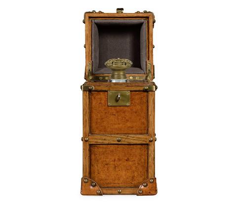 Jonathan Charles - Travel Trunk Style Wine Box - 495239