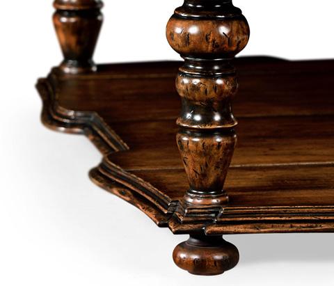 Jonathan Charles - Square Rustic Walnut Coffee Table - 495305-RWL