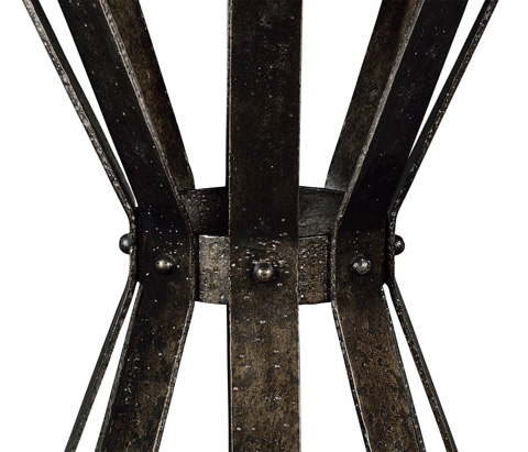 Jonathan Charles - Iron Round Marble Table - 495309-LMA