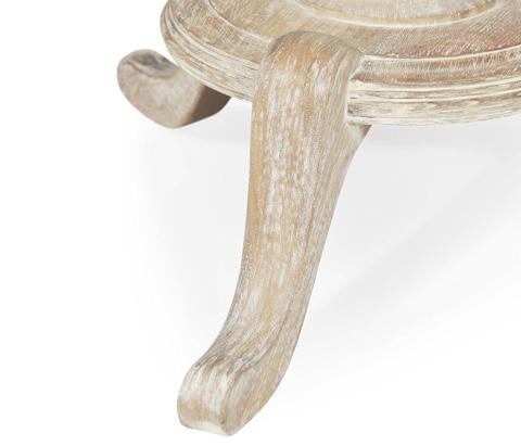 Jonathan Charles - Round Limed Acacia Lamp Table - 495335-LMA
