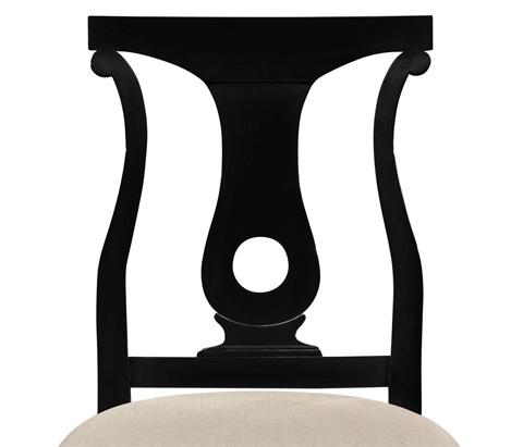 Jonathan Charles - Black Lock Dining Side Chair - 495351-SC-BLA