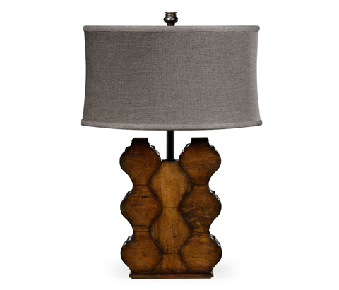 Jonathan Charles - Rustic Walnut Wood Table Lamp - 495362-RWL
