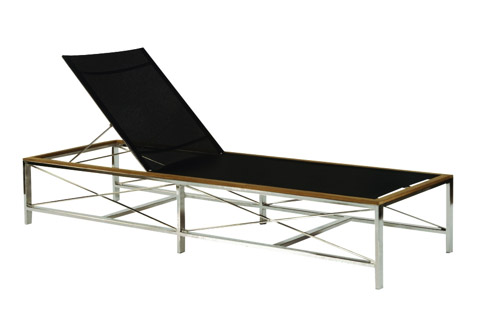 Image of Ibiza Adjustable Chaise Lounge with Wheels