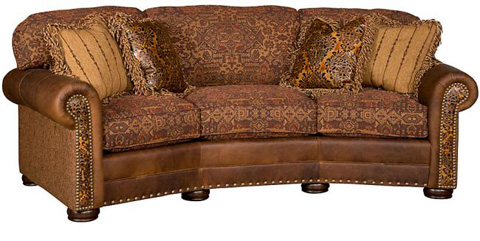 Ricardo Leather And Fabric Conversation Sofa 9965 Lf