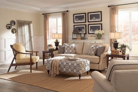 Klaussner Home Furnishings - Trisha Yearwood Tifton Sofa - D26000 S