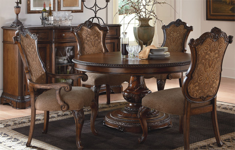 Legacy Classic Furniture - Round to Oval Pedestal Table - 3100-521K