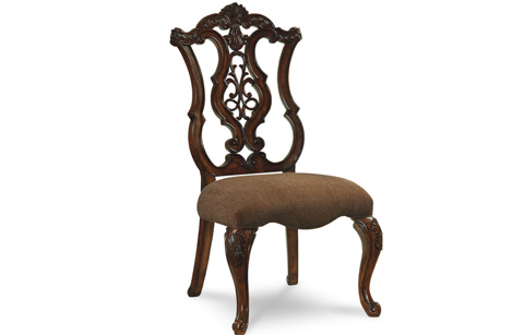 Image of Pierced Back Side Chair