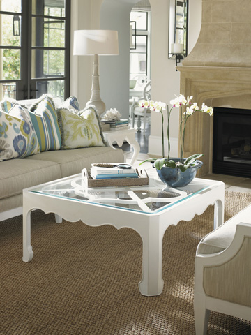 Tommy Bahama - Cassava Cocktail Table With Glass Insert - 543-947