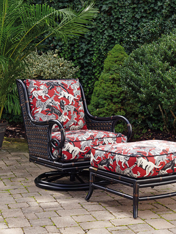 Lexington Home Brands - Outdoor Swivel Rocker Lounge Chair - 3237-11SR