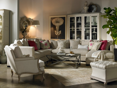 Lillian August Fine Furniture - Trevor Storage Ottoman - LL8007OT