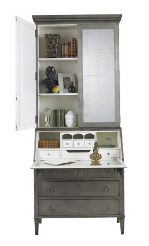 Lillian August Fine Furniture - Leif Secretary in Silver Leaf - LA92570-01